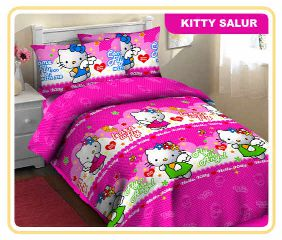 Jual Sprei  fortuna Hello Kitty salur