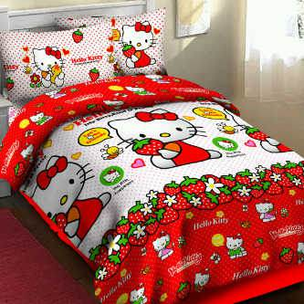 Sprei Bedcover  fortuna Kitty sweet